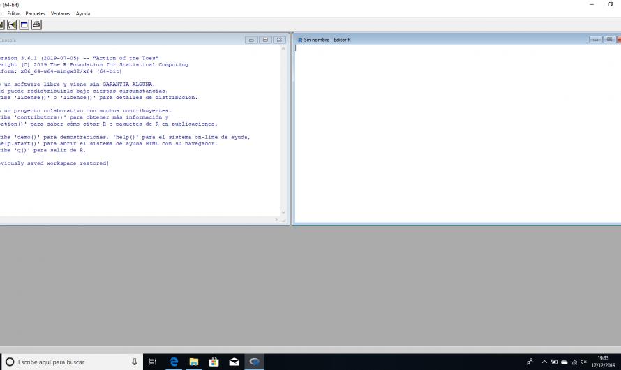 Inicio programación en R