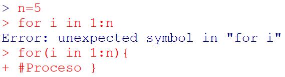 Errores en bucles y condicionales en R