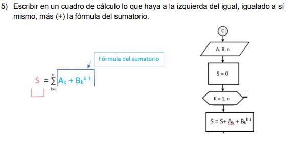 Interpretación del sumatorio Algoritmia