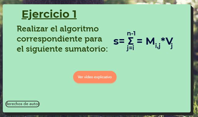 Video explicativo sumatorio Algoritmia