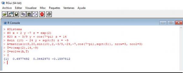 Comandos básicos en R, operaciones con vectores y matrices