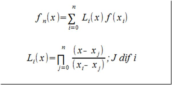 Apuntes Interpolación de Lagrange