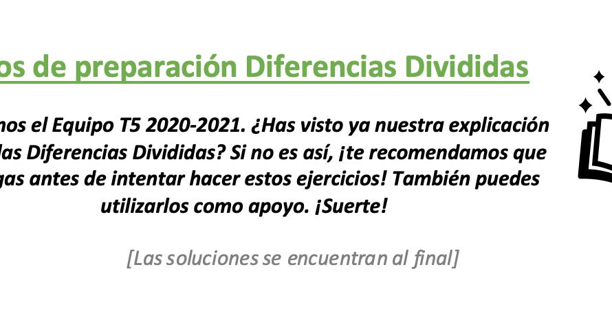 Ejercicios Diferencias Divididas: Lee y Entiende, Practica y Aprende.