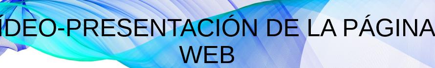 Vídeo presentación página web