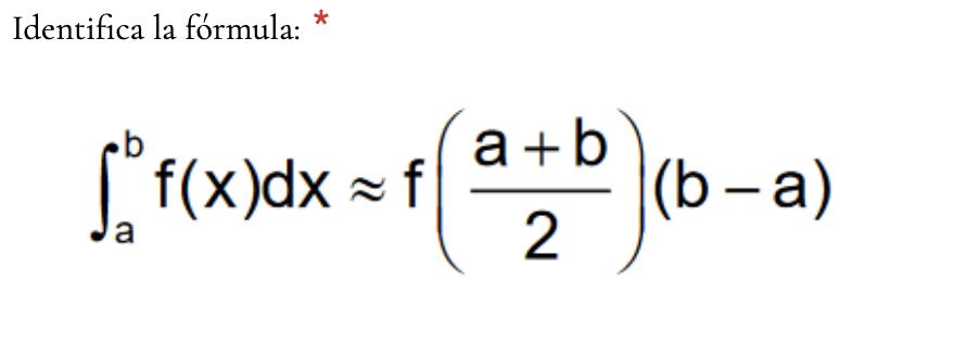 Cuestionario de integración numérica
